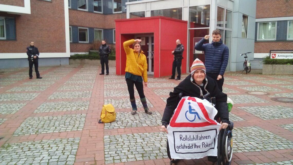 Protest am Amtsgericht Lingen, Herbst 2019
